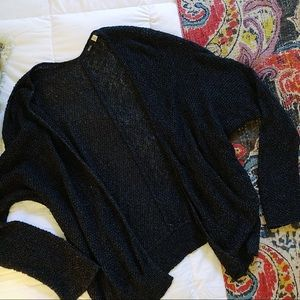 BDG Black Oversized Cardigan